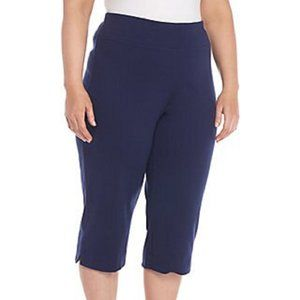 NEW Alfred Dunner Plus CROP Pull-On Stretch CAPRI